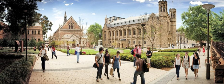 Adelaide University Campus + Panorama from North Terrace